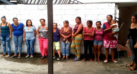 Campesinas of La Magdalena in El Vigía jail, Merida state, in early March