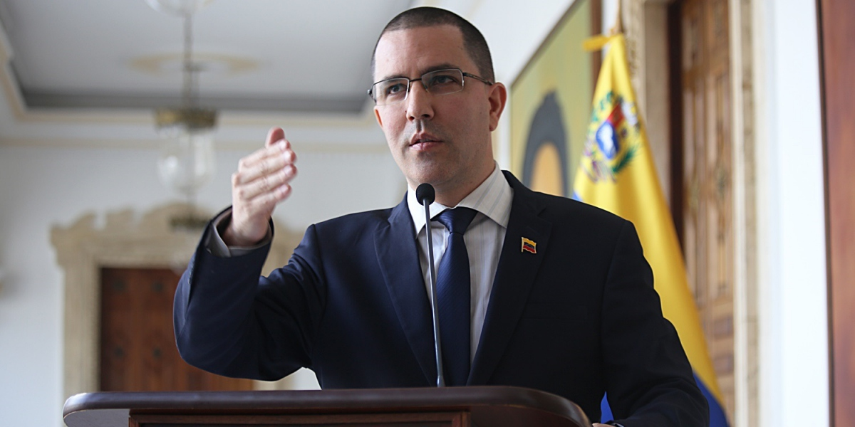 "Foreign Minister Jorge Arreaza criticized the ""politicization of human rights"" (MPPRE)."