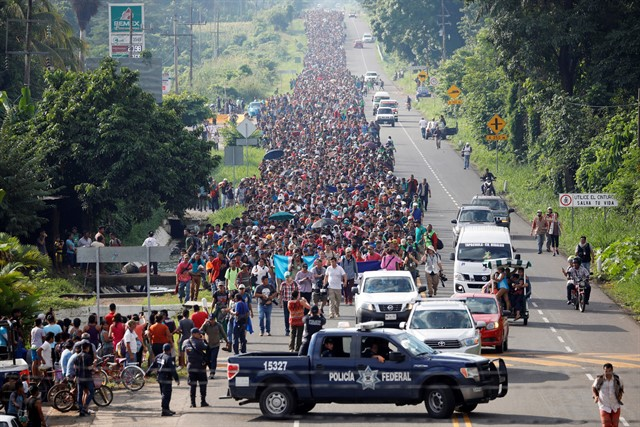 The migrants have marched through Guatemala and are now in Mexico. (Reuters/EP)