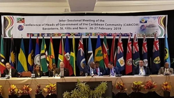 The Caricom meeting began Tuesday morning on the dual-island nation of St. Kitts and Navis (teteSUR)