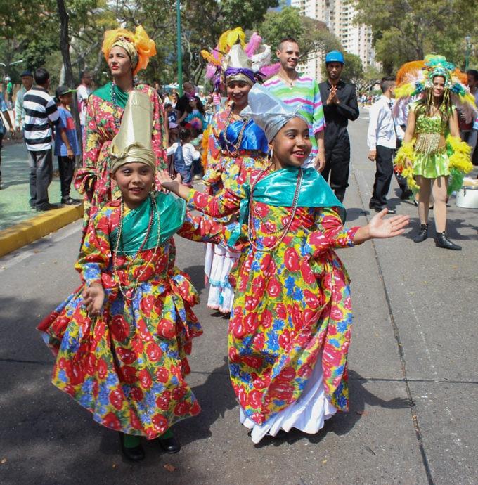 Venezuelan children dressed up for Carnival