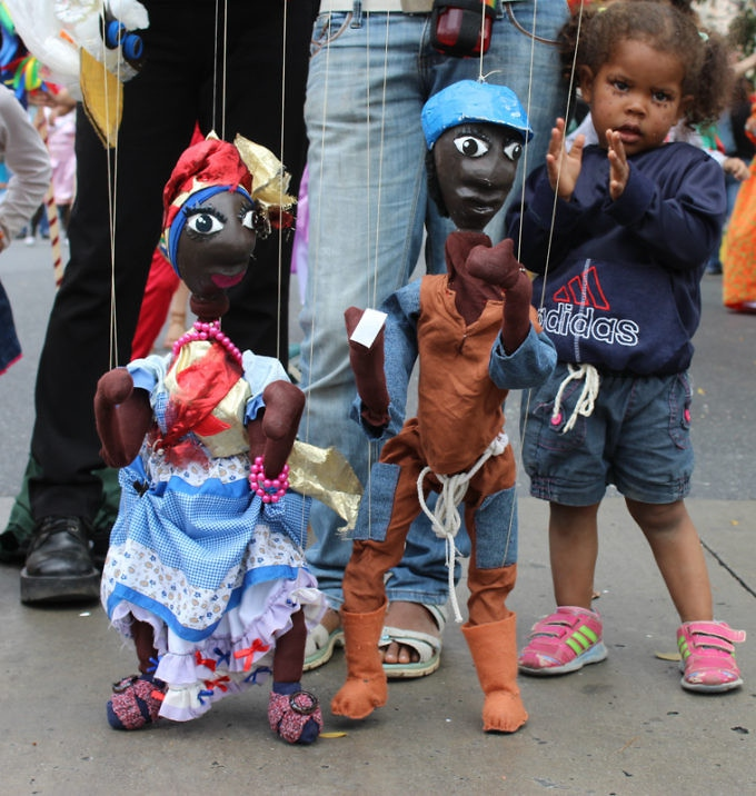 Carnival puppets