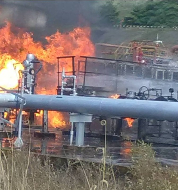 The explosion in PDVSA's Guatire plant on December 13 was seen from afar by residents, and according to on-the-scene journalists left six injured and two dead (@bomberos_dc / Twitter)