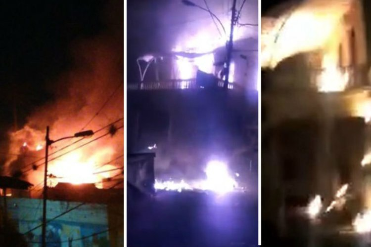 The Robert Serra House, a cultural center in La Pastora in Caracas, was burnt down ion January 22. (Venezuelanalysis)