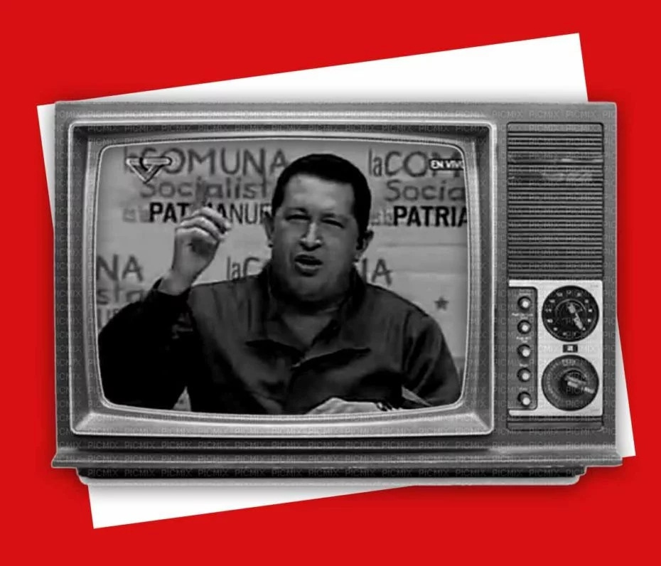 In this broadcast series, Chávez stressed the need to debate and develop revolutionary theory. (VTV / Utopix)