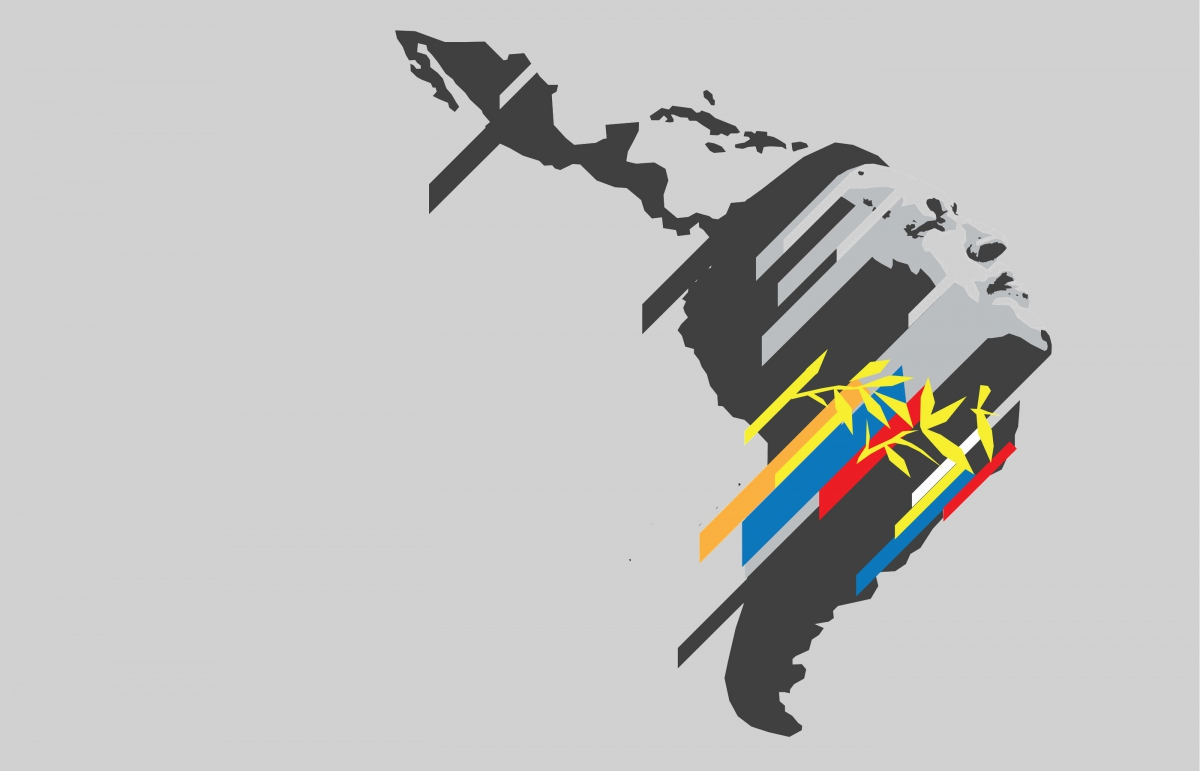 A design by Venezuelan grassroots graphic design collective Comando Creativo