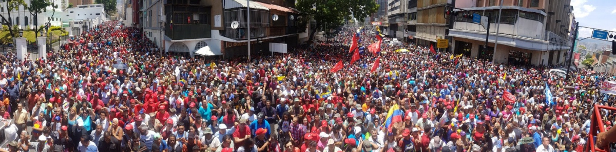 May Day 2019 rally in support of the Venezuelan government - the largest chavista demonstration since President Chávez's death in 2013. (@OrlenysOV / Twitter)