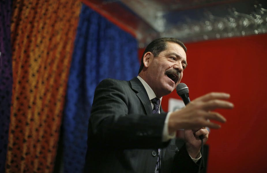 """Jesús """"Chuy"""" García (D-IL) and other representatives asked for a new US policy towards Venezuela stepping away from the """"maximum pressure"""" campaign and violent destabilization efforts. (Jim Young/Reuters)"""