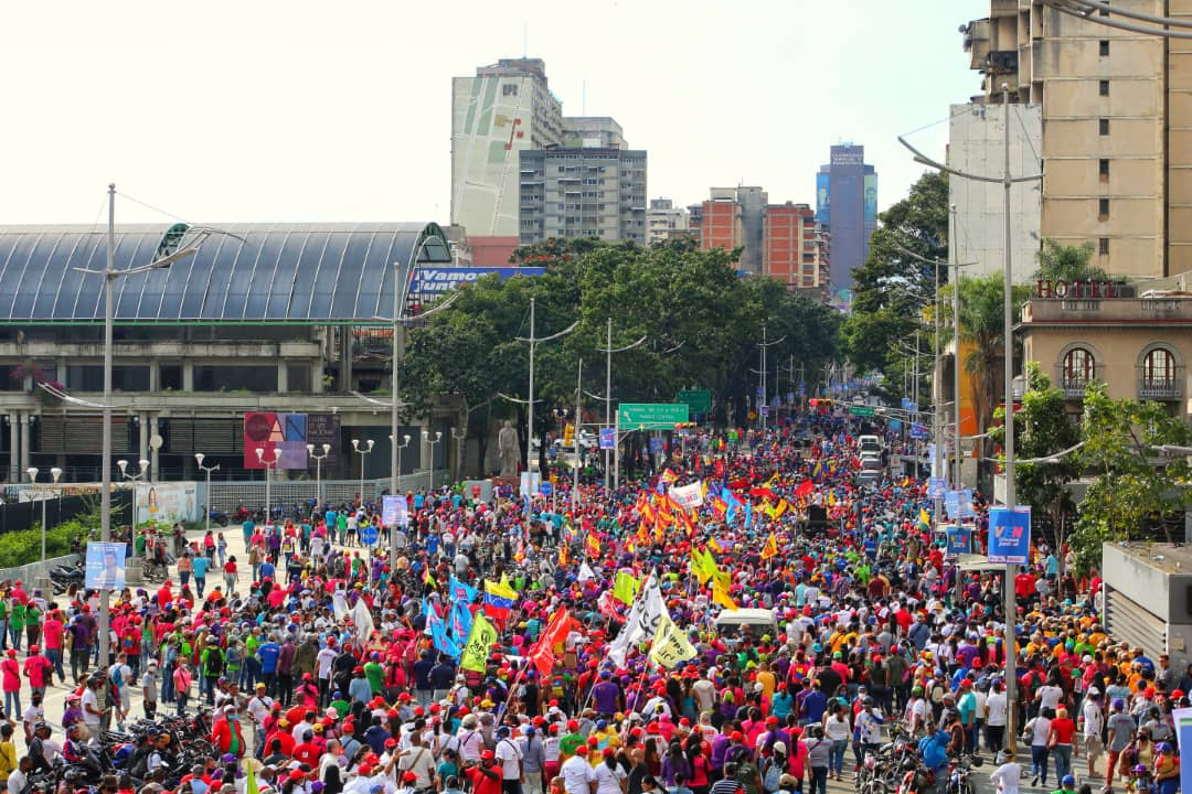 PSUV campaign closure in Caracas on Thursday. (AlcaldiaCCS)