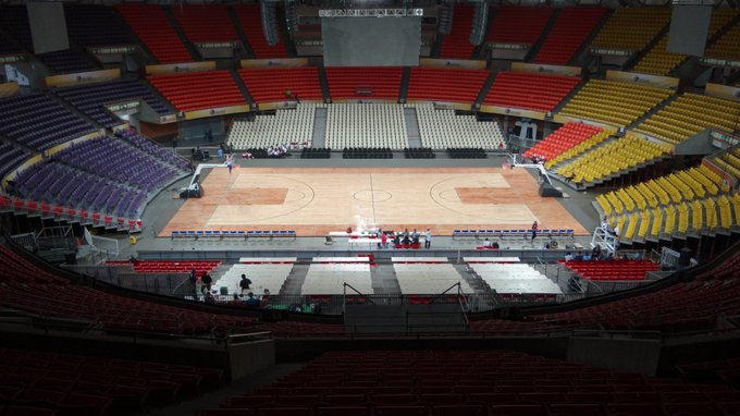 Caracas' Poliedro arena, which can hold over 23,000 people for sporting or musical events, is to be converted into a COVID-19 field hospital. (@PoliedroCaracas / Twitter)
