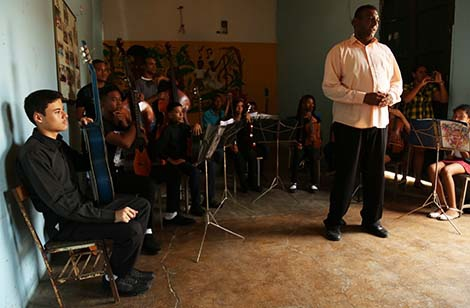 Youth musicians with the Rio Chico Cultural Center
