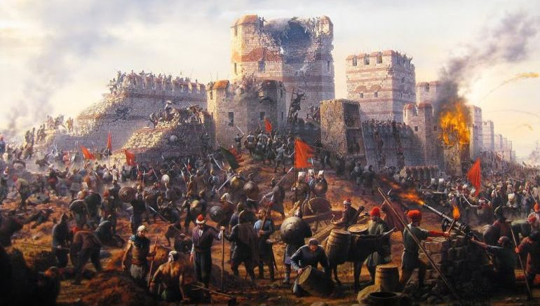 Depiction of the siege of Constantinople, 1453. (Archive)