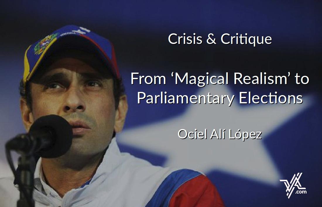 VA columnist Ociel López looks ahead to December's parliamentay elections. (AFP / Venezuelanalysis)