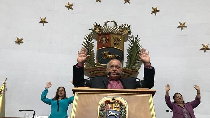 The National Constituent Assembly unanimously approved revoking Guaido's parliamentary immunity. (Con El Mazo Dando)