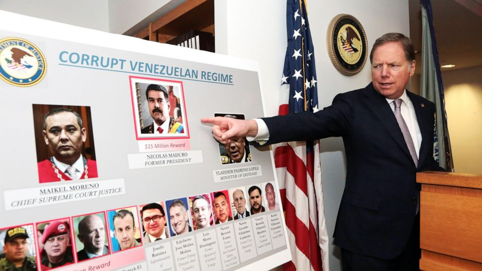 U.S. Attorney Geoffrey Berman announcing charges against Maduro and other high ranking officials. (US Attorney's Office)