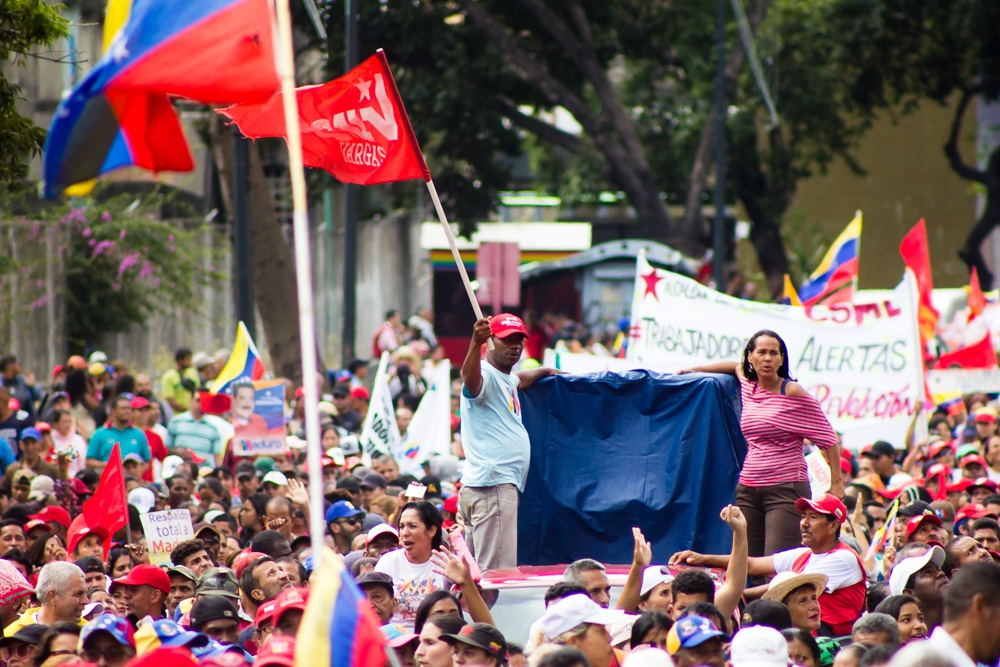 Demonstration in support of the Bolivarian government. (CRBZ)