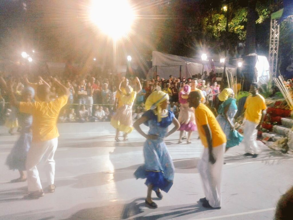 Traditional Venezuelan dancing at the close of the FILVEN 2018