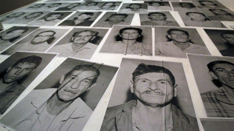 Portraits of missing persons, victims of Operation Condor during the Paraguayan dictatorship of Alfredo Stroessner. (Archive)