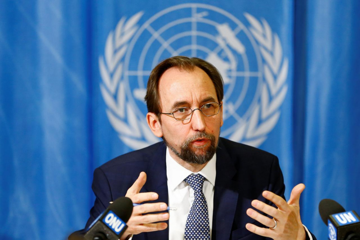 United Nations High Commissioner for Human Rights Zeid Ra'ad al-Hussein of Jordan speaks during a news conference at the United Nations European headquarters in Geneva, Switzerland, May 1, 2017. (Pierre Albouy / Reuters)