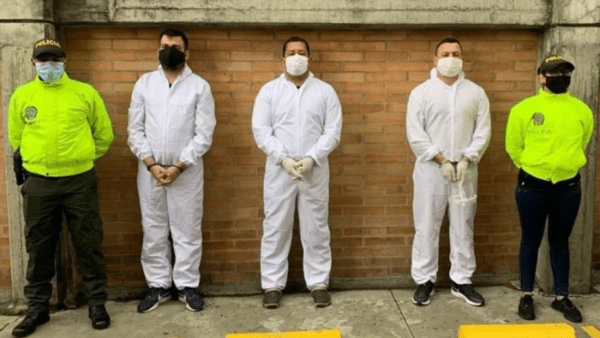 Alexander Russo, Juvenal Sequea and Juven Jose Sequea were arrested in Bogota. (@runiversal959fm)