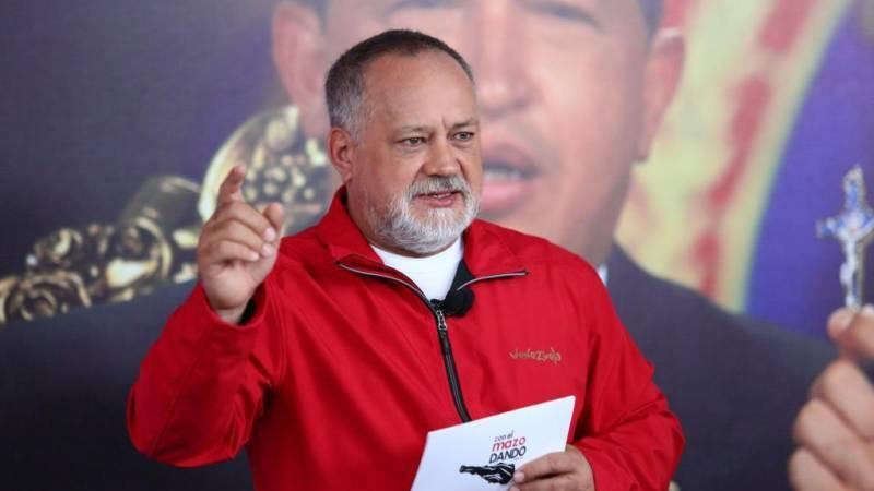 """Cabello hosting his weekly show, """"Con el mazo dando."""" (Con el mazo dando)"""