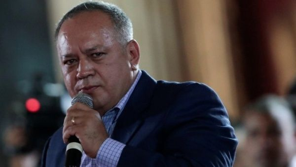 National Constituent Assembly member, Diosdado Cabello, speaks during a session of the assembly at Palacio Federal Legislativo in Caracas, Venezuela. (Reuters)
