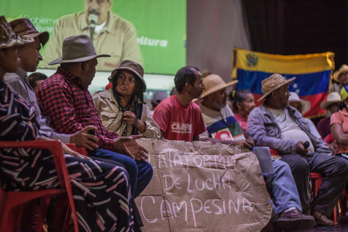 Campesinos have been staying at the Fermin Toro school in Caracas since the culmination of their historic march last month