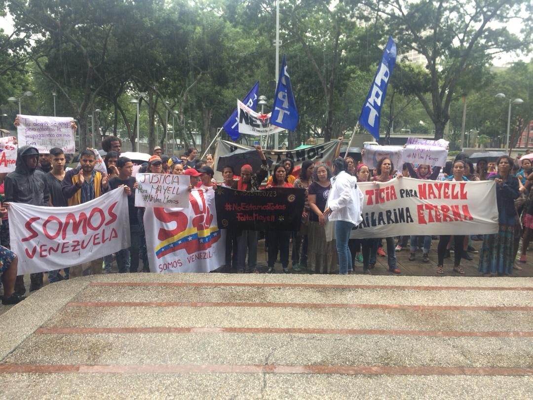 Feminist movements and other organizations marched to the Public Prosecutor's office to demand justice for Mayell Hernandez