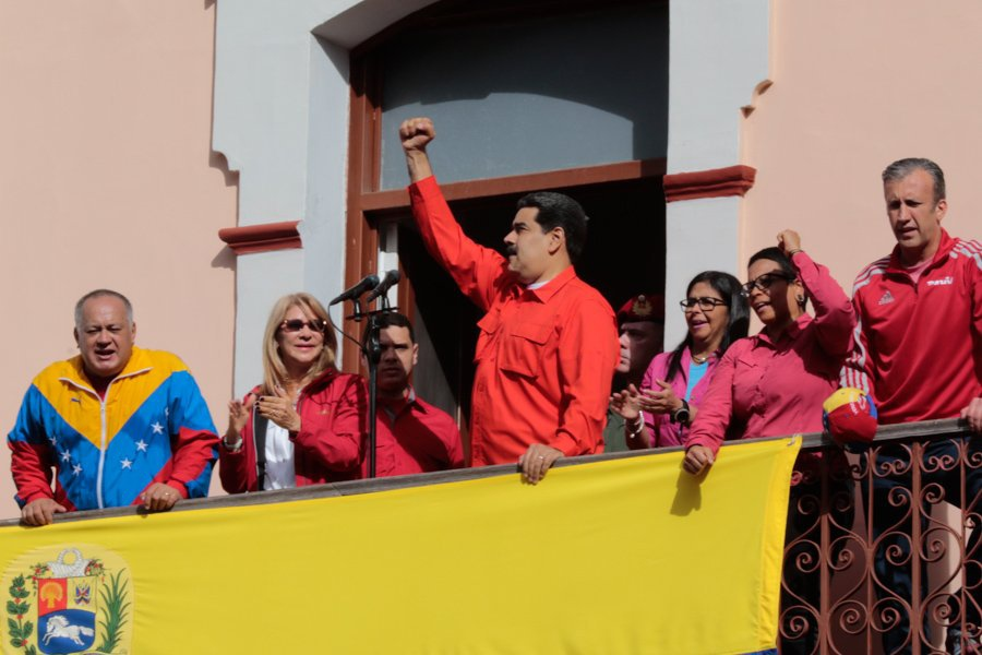 Maduro addressed supporters from Miraflores Palace. (Presidential Press)