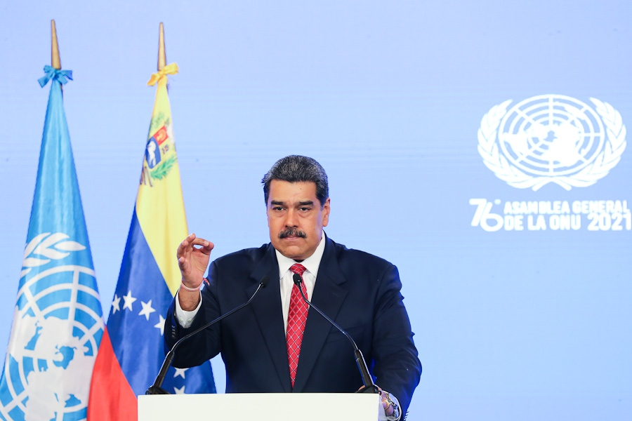 President Nicolas Maduro addressed the 76th session of the UN General Assembly on Wednesday. (@PresidencialVen / Twitter)