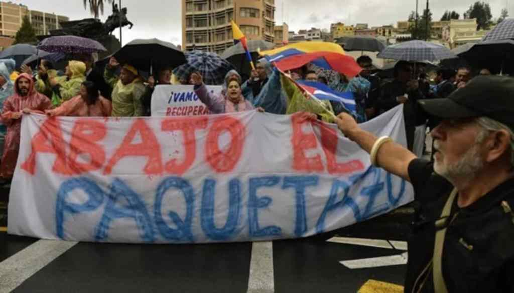 The people of Ecuador, who are protesting against neoliberal austerity measures, have received much solidarity from Venezuela. (Archive)