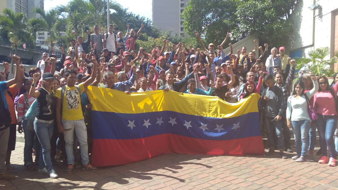 People from the Simon Planas municipality protest against the results of the municipal elections