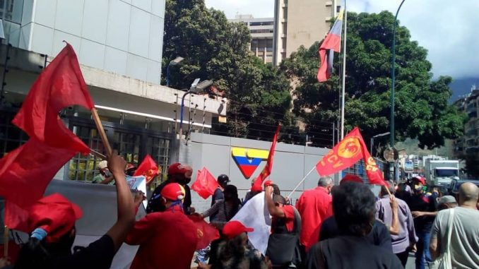 "The Popular Revolutionary Alternative held a rally outside state television channel VTV on Thursday denouncing ""censorship"" of their candidates by government-run media."