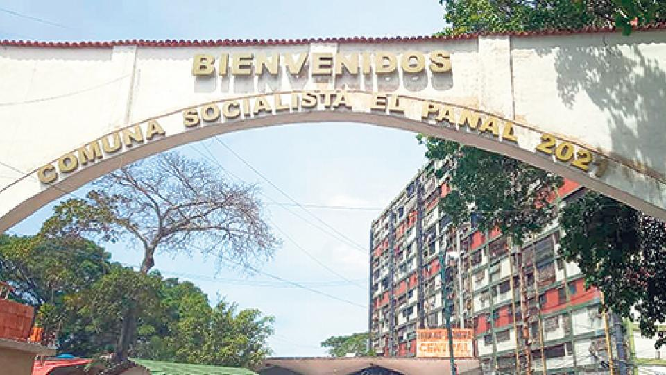 Entrance of Panal 2021 commune in 23 de Enero, Caracas. (Archive)