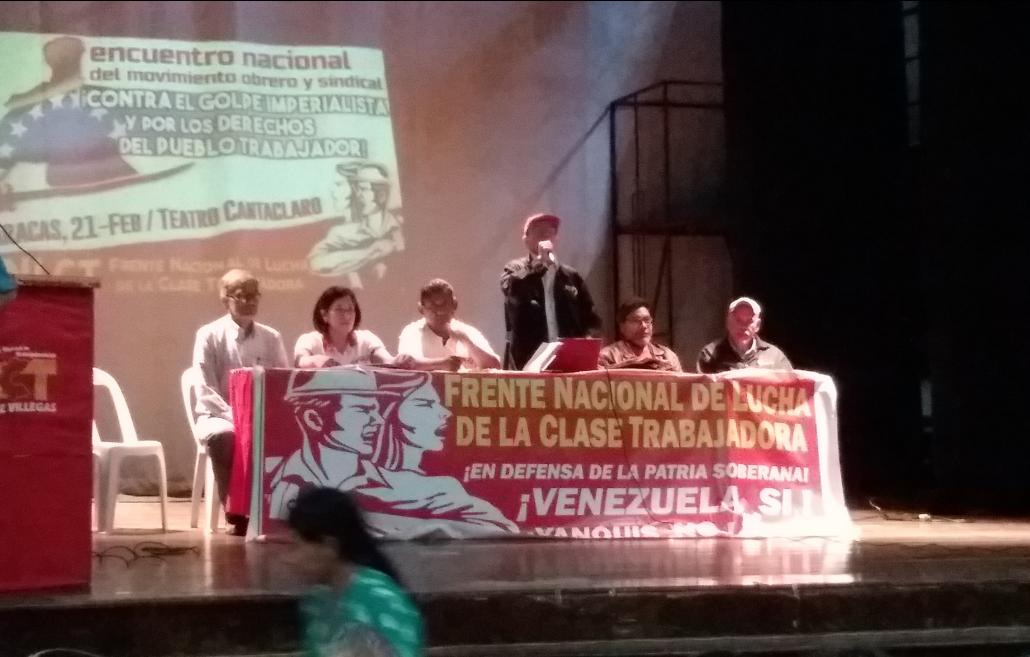 Communist and trade union leader Pedro Eusse called for working class unity in the face of an external aggression. (Ricardo Vaz)