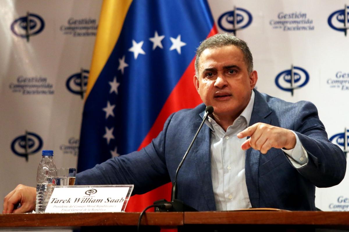 Venezuelan Attorney General Tarek William Saab announced the soldier's arrest on New Years Eve. (Archive)