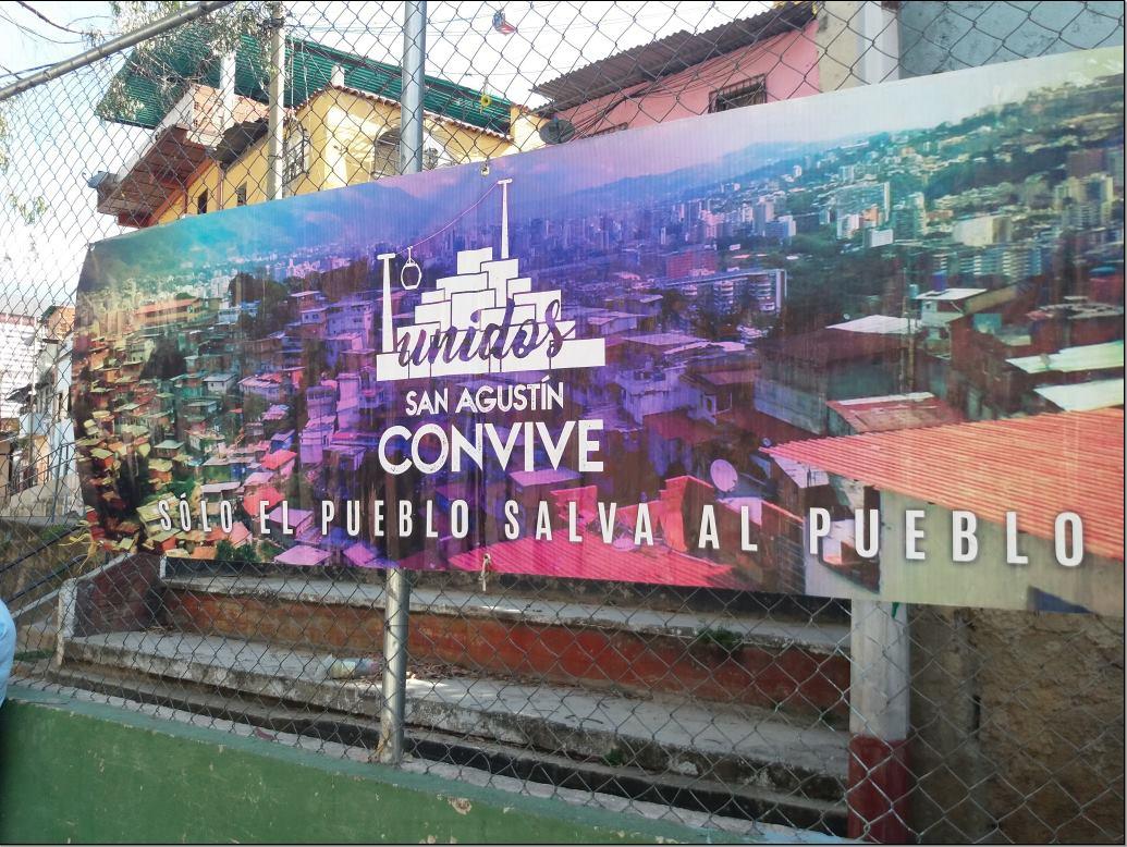 """""""Only the people can save the people"""" (""""Sólo el pueblo salva al pueblo"""") was a slogan used by Hugo Chávez that has been embraced in San Agustín. (Ricardo Vaz)"""