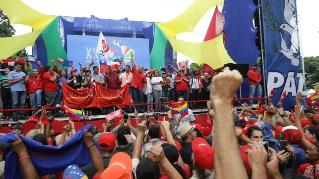 A rally for peace was held in Caracas. (EFE)