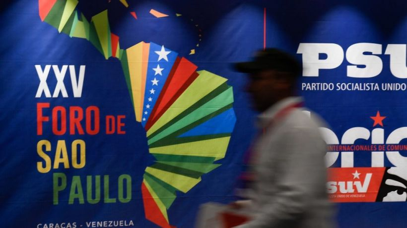 The Sao Paulo Forum was held in Caracas from July 25-28. (AFP)