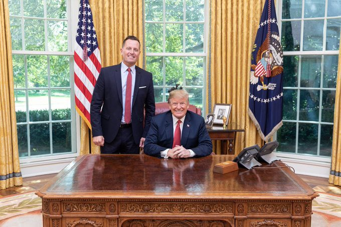 Richard Grenell and Donald Trump at the Oval Office (Archive).
