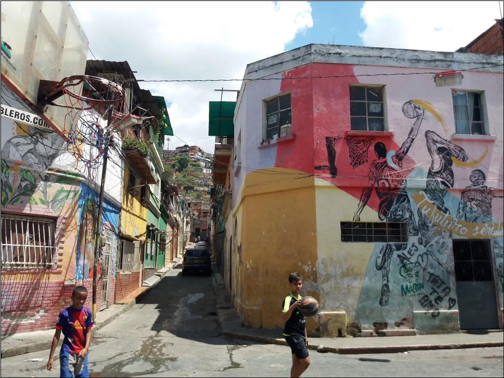 """The murals of the """"Marín, Guaguanco of Colours"""" reflect the rich cultural heritage of San Agustín. (Ricardo Vaz)"""
