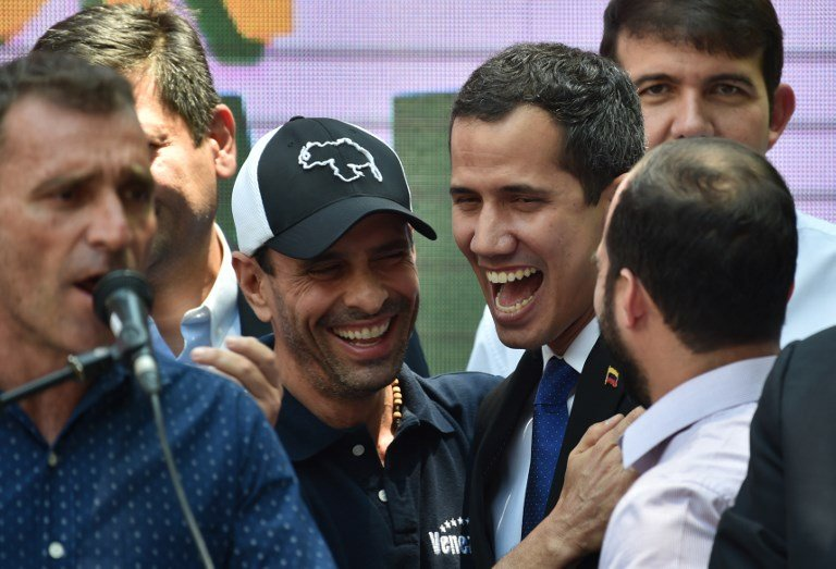 "Capriles backed self-proclaimed ""Interim President"" Guaido before falling out. (AFP)"