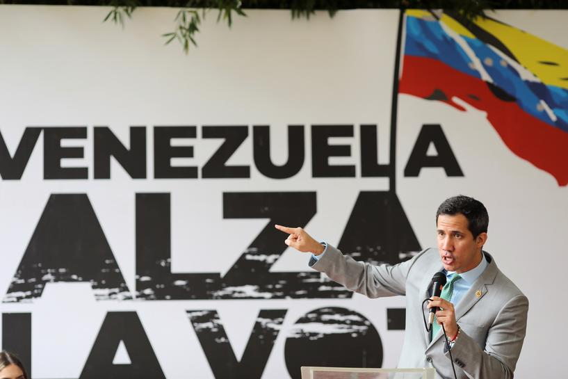 """Opposition leader Juan Guaido is calling for """"bipartisan support"""" in the US. (Reuters)"""