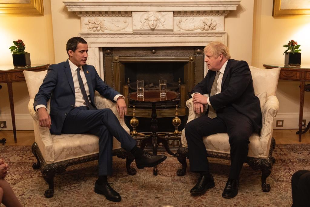 Guaido met British PM Boris Johnson on Tuesday. (@jguaido)