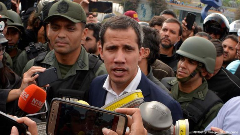 Many have called for Juan Guaido to be prosecuted for his crimes. (Getty Images)