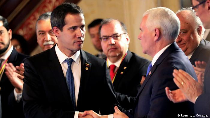 Guaido and Pence could not convince the Lima Group to support military action (Reuters)