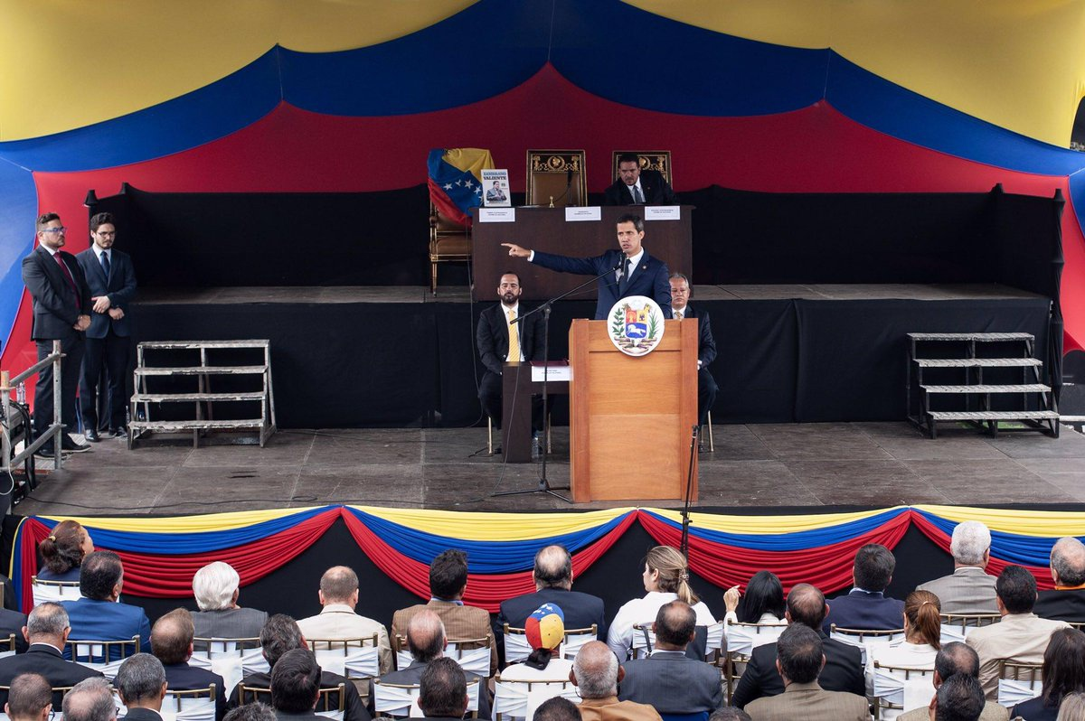 "Self-proclaimed ""Interim President"" Juan Guaido vowed to reincorporate Venezuela into the TIAR military pact. (@jguaido)"