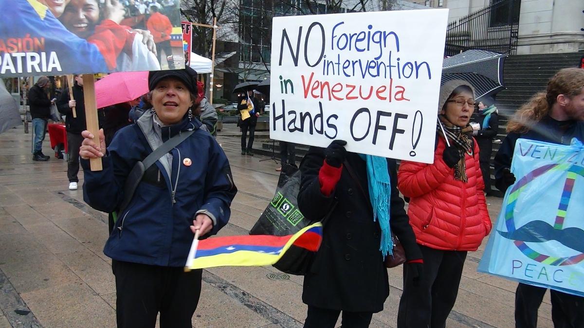 Hands off Venezuela march in Vancouver, Canada. (Archive)