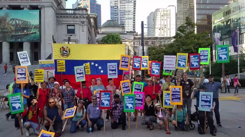 Fire This Time rally to oppose Canadian intervention in Venezuela. (Fire This Time)