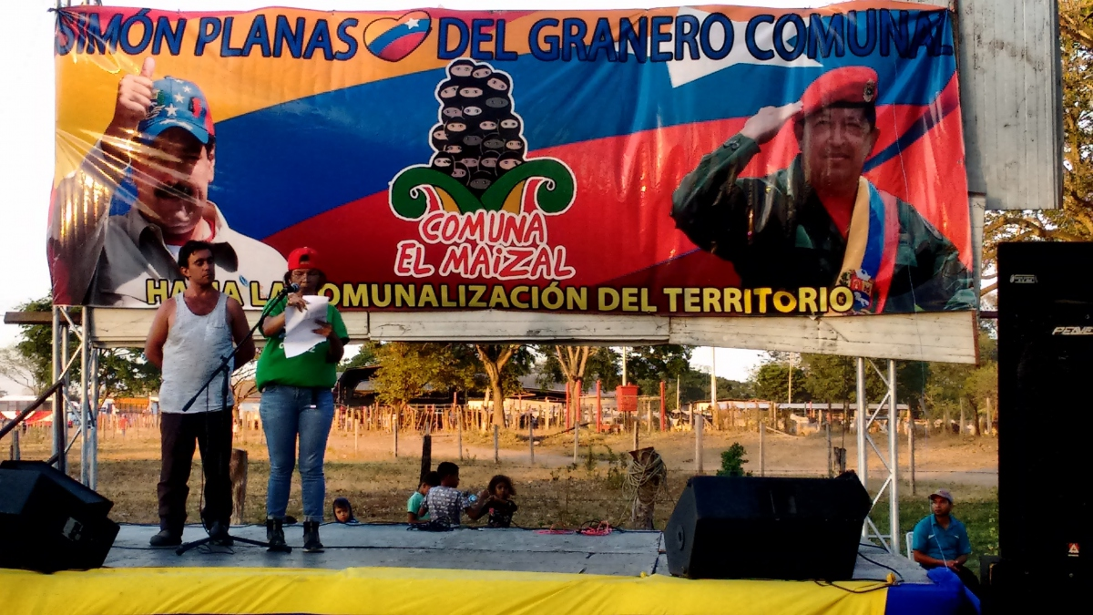 El Maizal commune in Lara State holds a solidarity gathering (Katrina Kozarek)